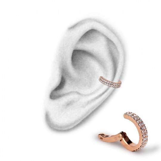 ROSE GOLD CARTILAGE RING, WITH DIAMONDS