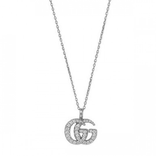 GG RUNNING NECKLACE IN WHITE GOLD YBB50155800100