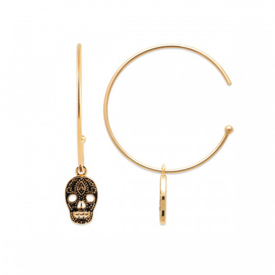 RING EARRINGS WITH SKULL 2631507 BIJOUX