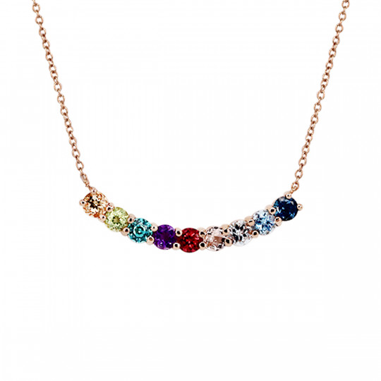 PENDANT WITH MULTICOLOURED STONES