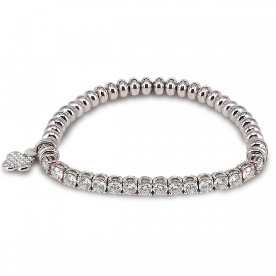 DIAMOND BRACELET WITH FLOWER