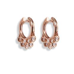 MINI HOOP EARRINGS WITH DIAMONDS