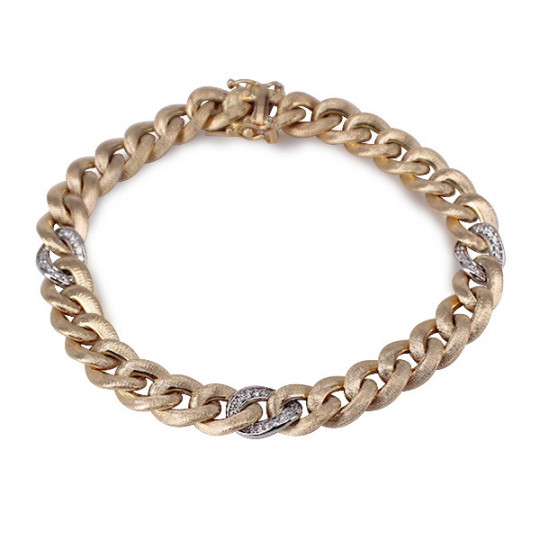 BEARDED CHAIN BRACELET WITH DIAMONDS
