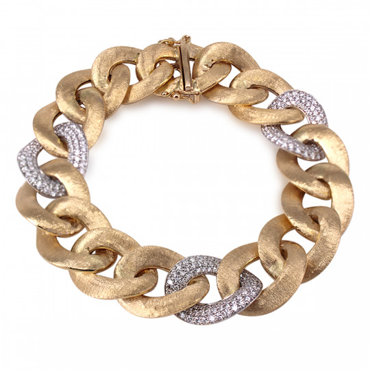 BEARDED HIP BRACELET WITH DIAMONDS