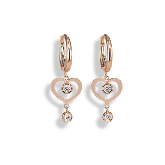 HEART EARRINGS WITH DIAMONDS
