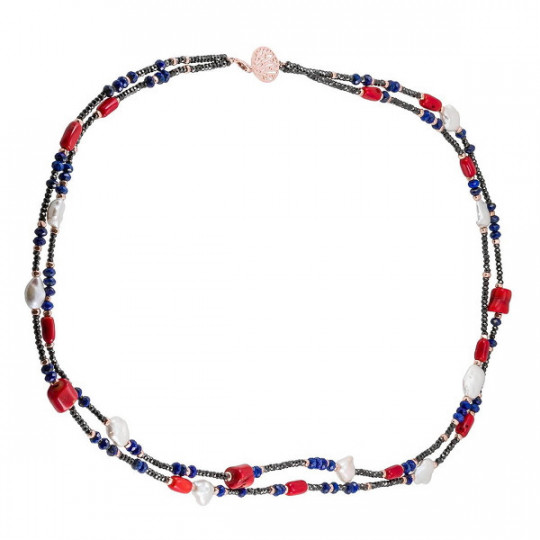 DOUBLE CORAL MULTICOLOR NECKLACE 90578GS2