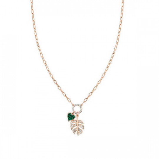 VITA SHORT NECKLACE WITH LEAF 148411/007