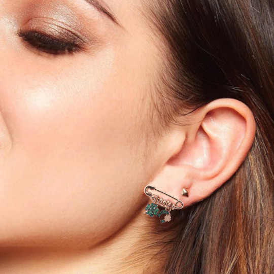 EARRINGS RUE DES MILLE CLOVER AND HORSESHOE ORZ-SPILLA C4