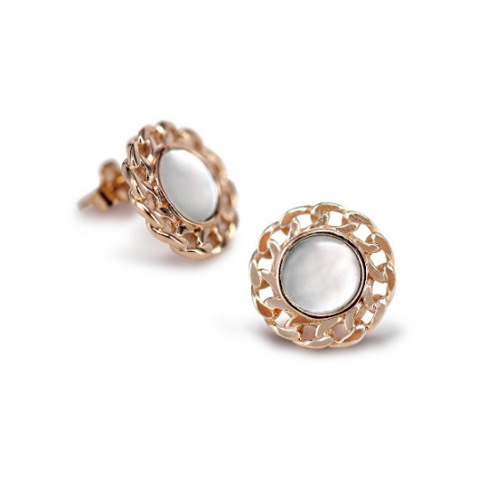 BUTTON EARRINGS WITH MOTHER-PEARL