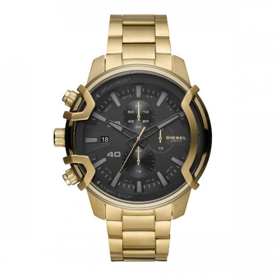 GOLD STEEL GRIFFED CHRONOGRAPH WATCH DZ4522