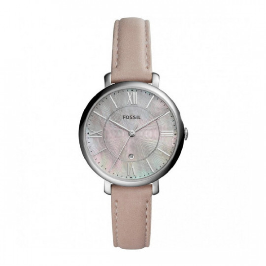 FOSSIL JACQUELINE SRA LEATHER AND NACAR WATCH ES4151