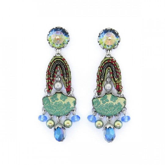 AYALA BAR FIESTA GREEN EARRINGS