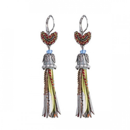 AYALA BAR EARRINGS, GREEN PARTY