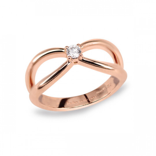 ROSE GOLD SOLITARY RING