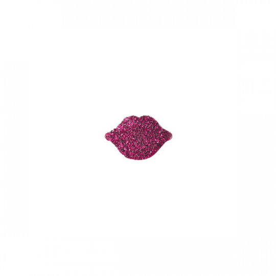 SINGLE STUD EARRING WITH GLITTER MOUTH