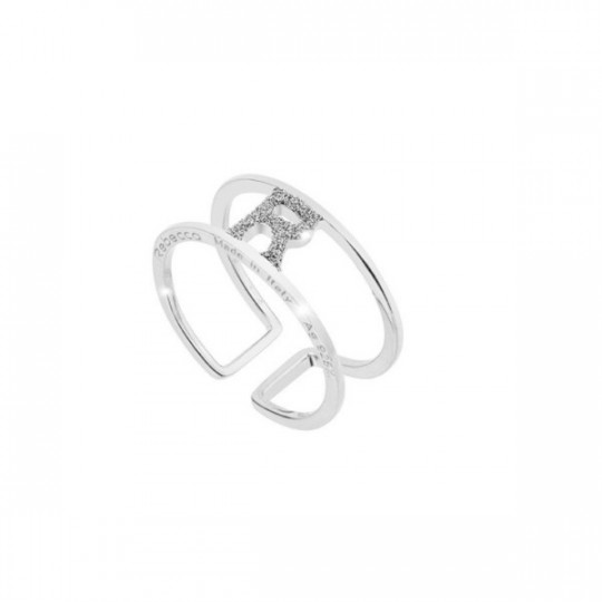 "JOLIE ""R"" RING IN SILVER AND DIAMOND DUST"