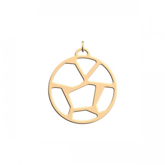 GIRAFE ROUND PENDANT 25 MM GOLD FINISH
