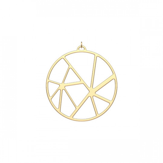 SOLAIRE PENDANT ROUND 45 MM Gold finish