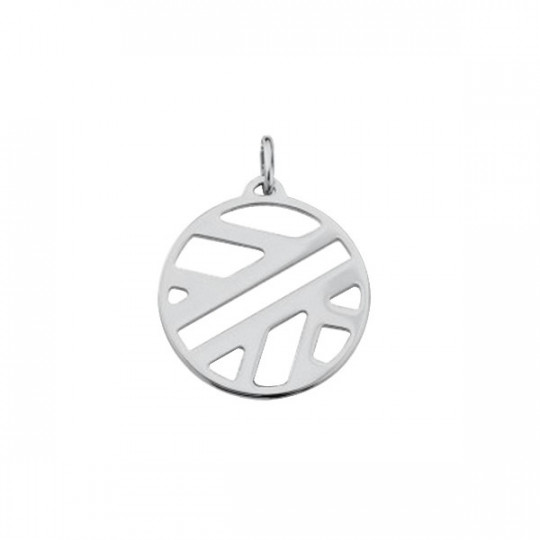 RUBAN PENDANT ROUND 25 MM Silver finish