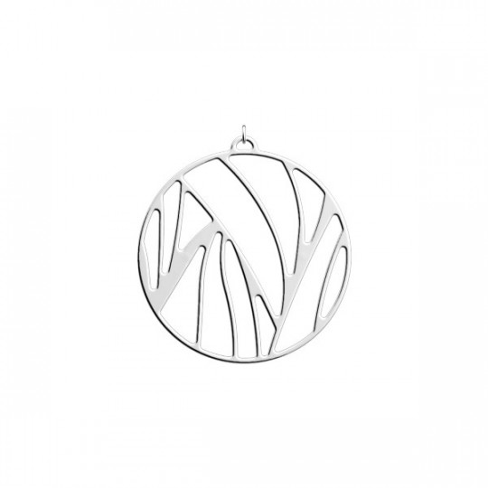 PERROQUET PENDANT ROUND 45 MM Silver finish