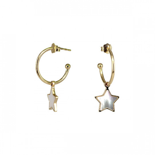 EARRINGS WITH MOTHER-OF-PEARL STAR