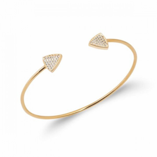 RIGID OPEN BRACELET WITH ZIRCONIA