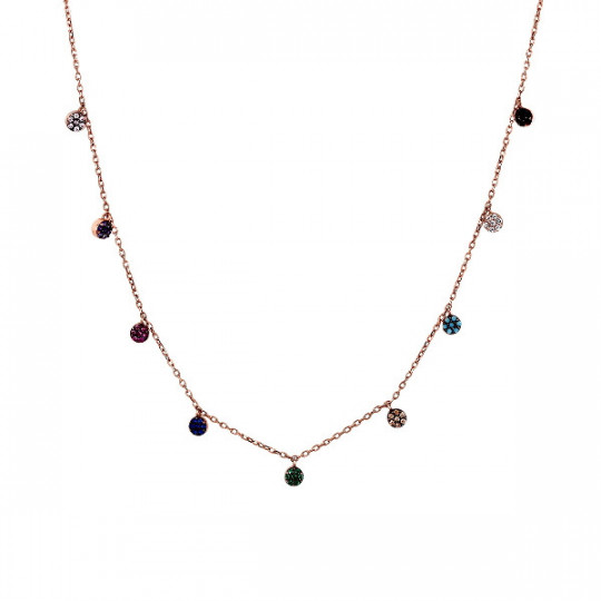 CHOKER WITH MULTICOLOURED CHATONS