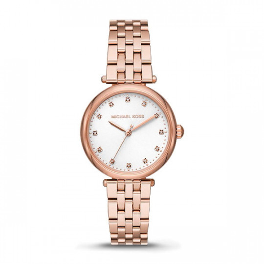 MICHAEL KORS DARCI WATCH IN ROSE GOLD TONE WITH ZIRCONS