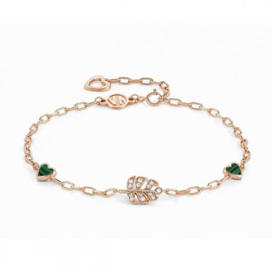 VITA BRACELET WITH HEARTS AND LEAF