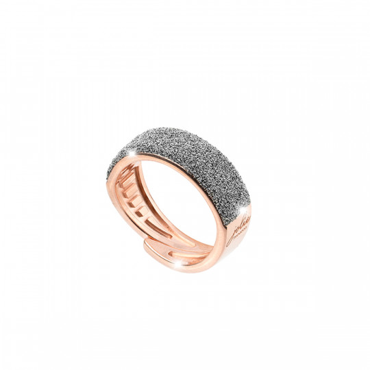 ROSE SILVER AND DUSTED DIAMOND RING