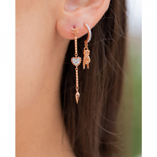 ARROW AND HEART EARRING