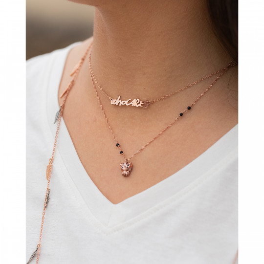 WHO CARES NECKLACE