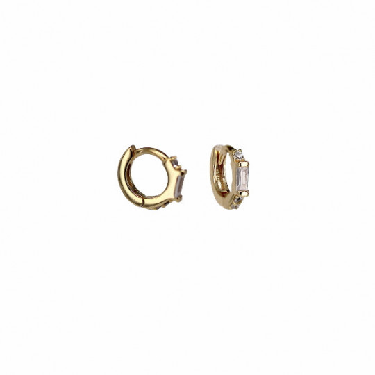 MICRO HOOP EARRINGS WITH ZIRCONS