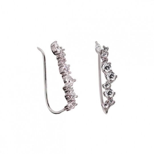 CLIMBING EARRINGS WITH ZIRCONS HIPPIE CLOSURE