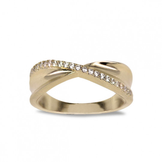 CROSS RING WITH ZIRCONIA