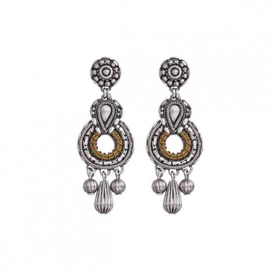 INDIGO, BRONZE EARRINGS N1531
