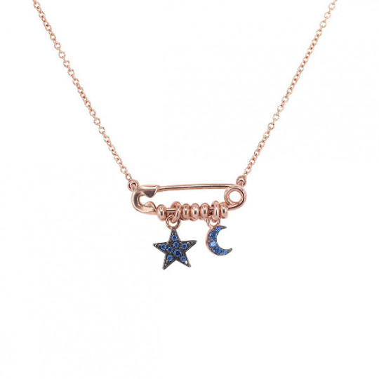 MOON AND STAR NECKLACE GRZ-SPILLA C5