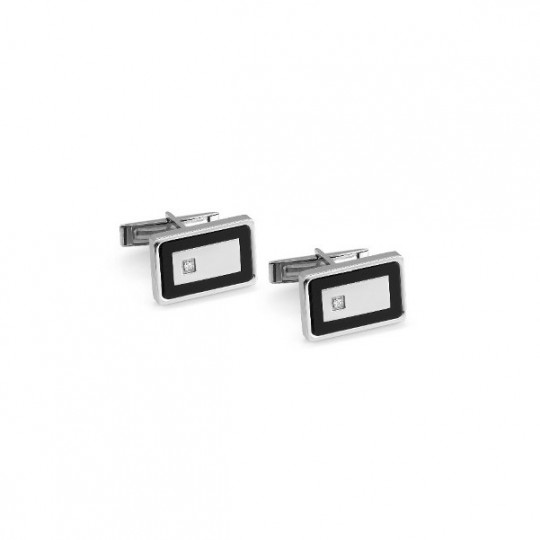 CUFFLINKS IN STAINLESS STEEL AND SWAROVSKI CLASS 024815/010