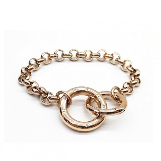 INFINITY BRACELET IN STAINLESS STEEL AND ZIRCONIA 028200/011