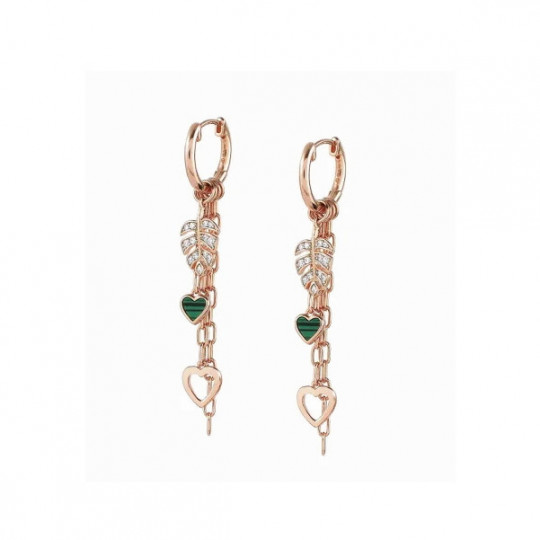 LONG VITA EARRINGS WITH LEAVES 148414/007