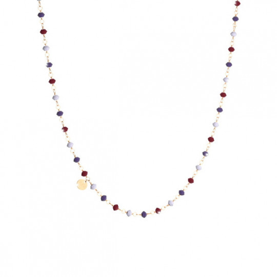 SILVER NECKLACE WITH NATURAL STONES SPEKOV04