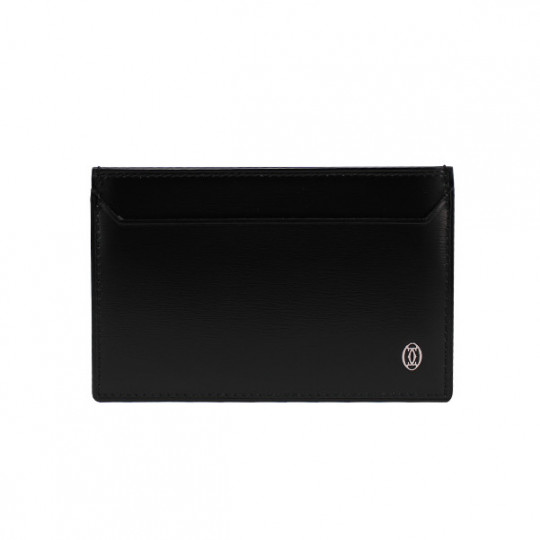 CARTIER BLACK PASHA CARD CASE LEATHER L3000865