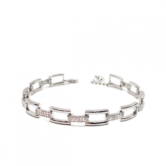 BRACELET RHODIUM SILVER LINKS