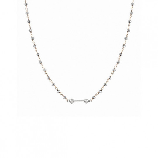 NECKLACE IN PINK SILVER AND STONES 148803 058