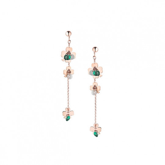 LONG EARRING IN SILVER AND STONES. ORSD 003