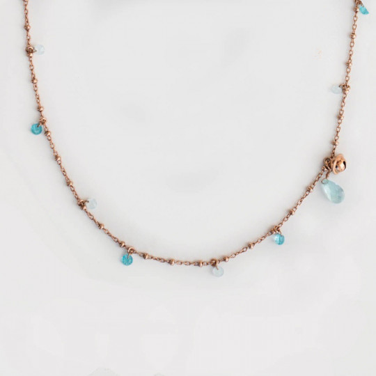 NECKLACE IN SILVER AND COLOURED STONES. CLSD 004.