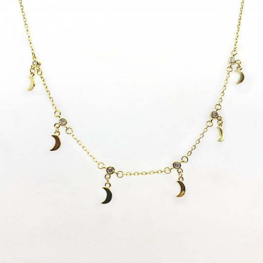 SILVER CHOKER WITH MOONS.