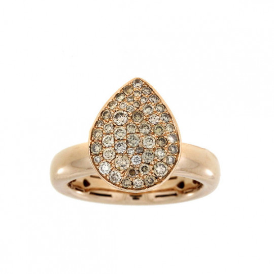 GOLD RING TEARDROP DIAMONDS.
