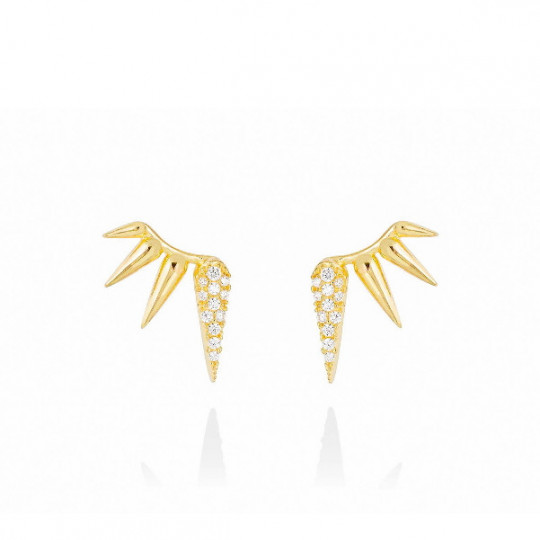WHITE QUEEN EARRINGS IN GOLD PLATED SILVER 90674PD
