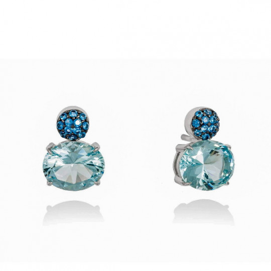 BLUE PARADISE EARRINGS IN SILVER 90265PA